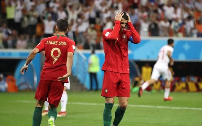 Cristiano Ronaldo perdeu pênalti na partida entre Portugal x Irã