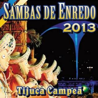 Capa do CD de sambas do carnaval 2013