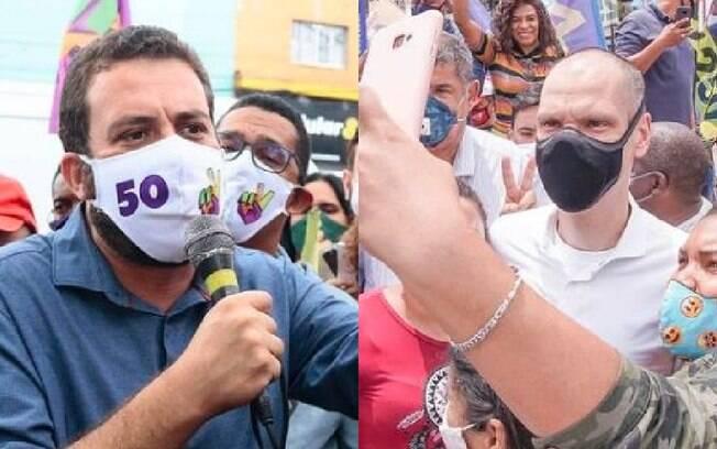 Guilherme Boulos (PSOL) e Bruno Covas (PSDB)