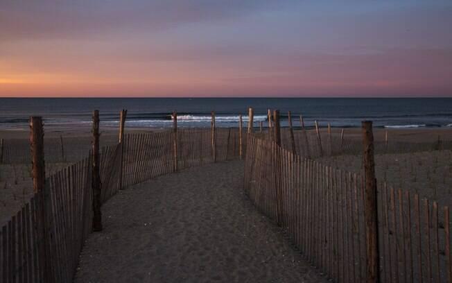A praia de Rockaway Beach, em Nova York, é perfeita para capturar fotografias lindas, principalmente quando está vazia