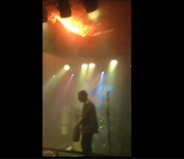 Imagens mostram momento do início do incêndio