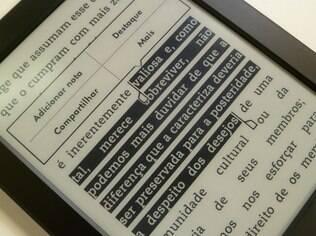 Tela sensível ao toque facilita seleção de texto