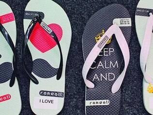 Sandálias. A Randall também trabalha na linha de personalização para Fiat, Maresia e De Millus