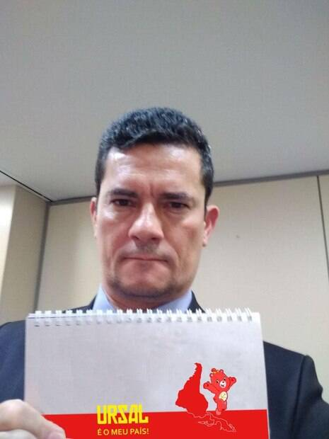 Meme com selfie de Sérgio Moro