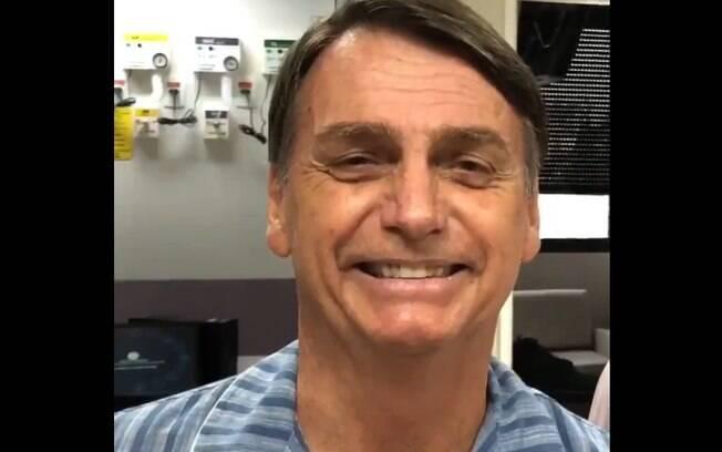 Candidato à Presidência pelo PSL, Jair Bolsonaro, publicou vídeo em que aparece sorridente e diz 'nunca me senti tão bem'