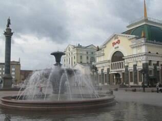Krasnoyarsk.  Estação ferroviária é porta de entrada