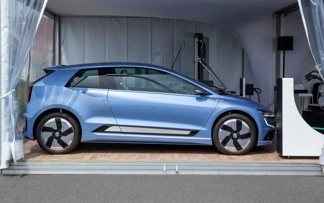 Apesar da foto ilustrar o futuro da marca, detalhes do novo Volkswagen Golf se mantêm trancados a sete chaves