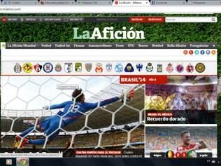 Site do periódico mexicano