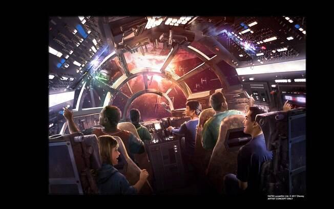Você poderá assumir o comando da icônica espaçonave Millenium Falcon no novo parque Star Wars Galaxy's Edge