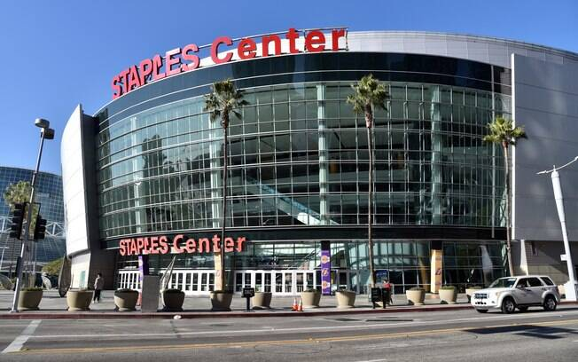 Fachada do Staples Center, em Los Angeles