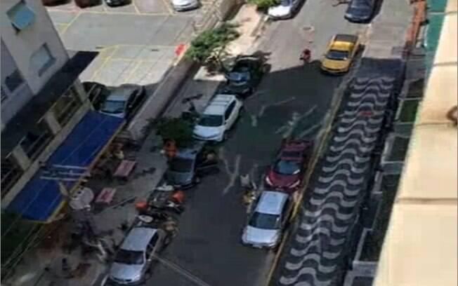 Homem foi preso após tiroteio em São Vicente