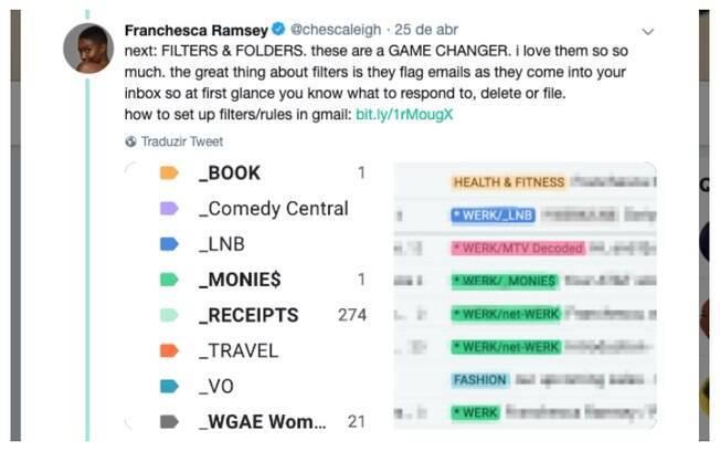 No Twitter, Franchesca criou uma postagem para te ajudar a acabar com os e-mails acumulados na caixa de entrada