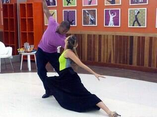 Luana Piovani durante ensaio para a 'Dança'