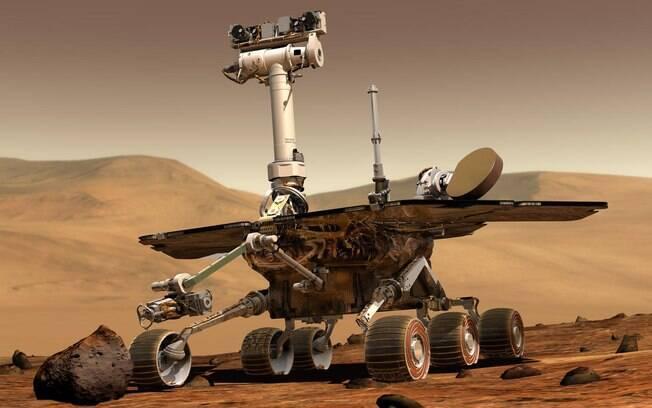 Robô Opportunity chegou a Marte em 2004 e passou 15 anos explorando o planeta Marte.