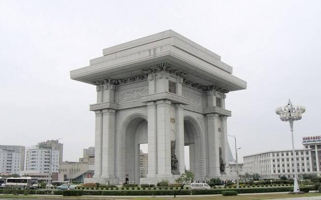 Arco do Triunfo em Pyongyang, Coreia do Norte (Arquivo)