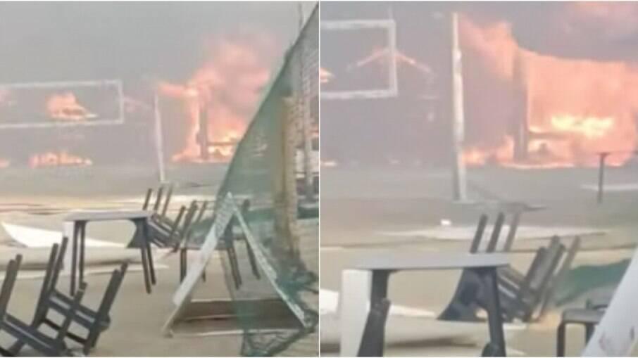 Incêndio de grandes proporções atingiu a região