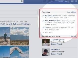 Facebook lançou o Trending, recurso que destaca os assuntos populares na rede social