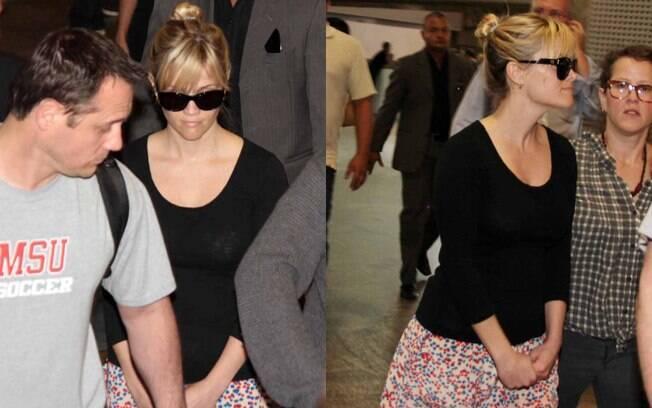 Esta é a segunda passagem de Reese Whiterspoon pelo Brasil, sendo que a primeira foi em 2008, quando a atriz veio representar uma marca de cosméticos