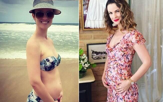 A atriz Carolina Kasting, que está grávida de quatro meses, ainda não sabe o sexo do bebê