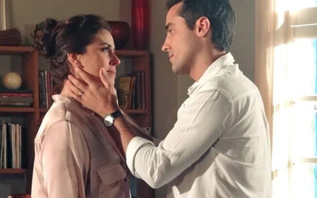 Vicente e Claudia: os dois são casados com outras pessoas