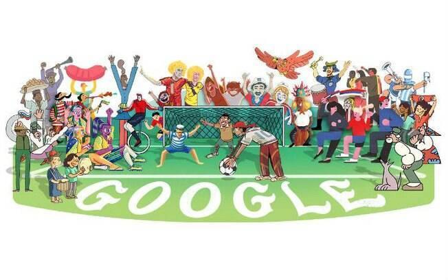 Ao clilcar no Doodle, o internauta pode conferir informações sobre os grupos e as partidas!