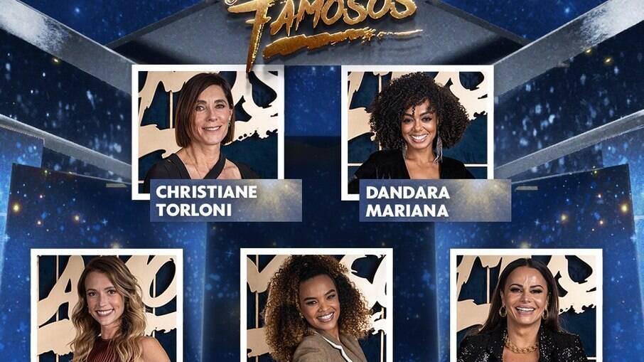 Cristiane Torloni, Lucy Ramos, Juliana Didone, Viviane Araújo e Dandara Mariana estão confirmadas