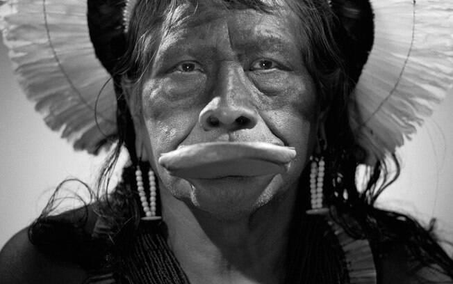 Raoni Metuktire, líder indígena brasileiro da etnia caiapó