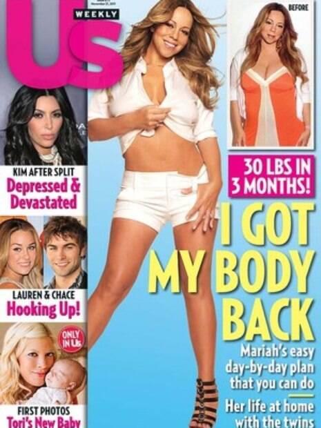 Mariah Carey também aparece sem umbigo em capa de revista nos Estados Unidos