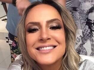 A cantora Cláudia Leitte também aderiu ao selfie