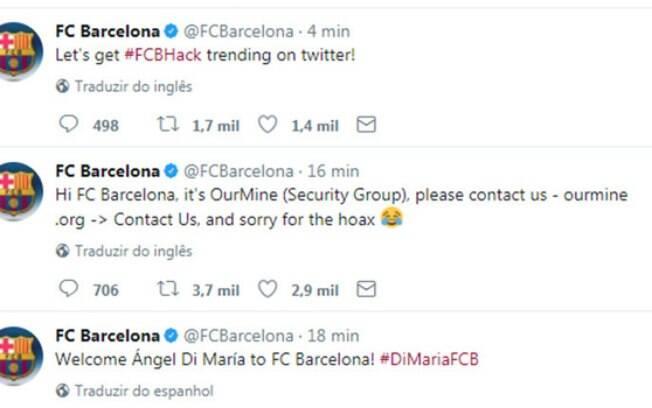 Twitter do Barcelona anuncia a chegada de Di María