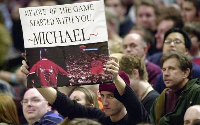 A torcida do Bulls fez festa para o ídolo e o  agradeceu pelos serviços prestados enquanto vestiu  o uniforme da equipe