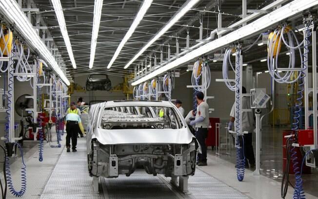 Fábrica da Kia em Pesquería (México), onde serão produzidos o sedã Cerato e o hatchback Rio.