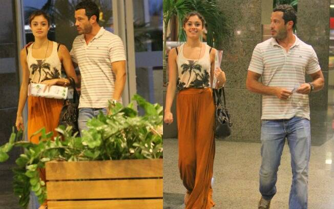 Depois da reconciliação, Malvino Salvador e Sophie Charlotte passeiam em shopping nessa quarta-feira (15)
