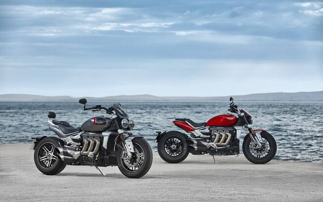 Triumph Rocket R e GT: Todos sabiam que é a moto com maior motor do mundo, mas que era uma das mais velozes, aí é novidade