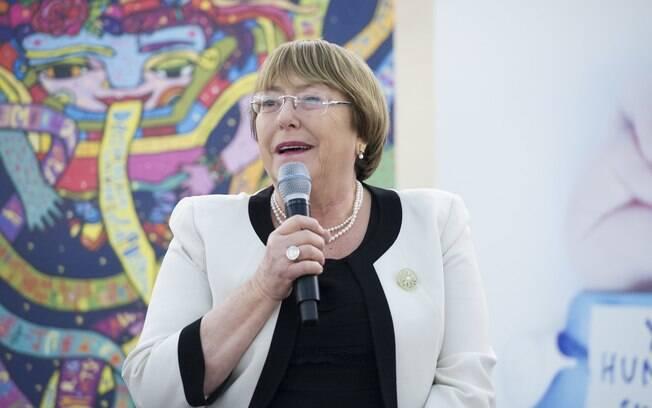 Alta Comissária das Nações Unidas para os Direitos Humanos, a ex-presidente chilena Michelle Bachelet