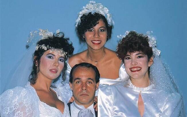 Tabaco (Osmar Prado) e suas três mulheres em