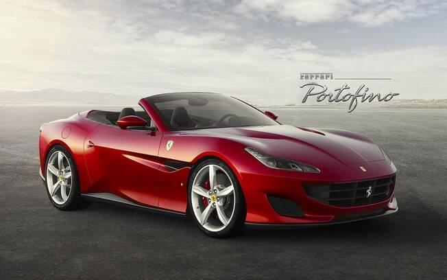 Ferrari Portofino: superesportivo conversível vem com motor V8 3.9, de 590 cavalos. Pode ir de 0 a 100 em meros 3,5 s