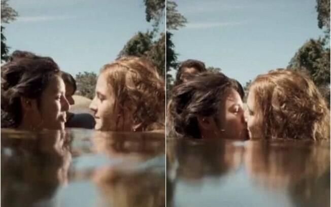 Mimi e Gironda trocam beijo em cena de nudez