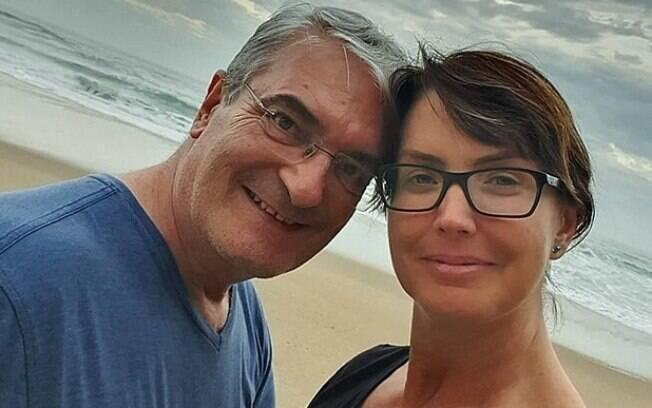 Alessandra Scatena e o marido