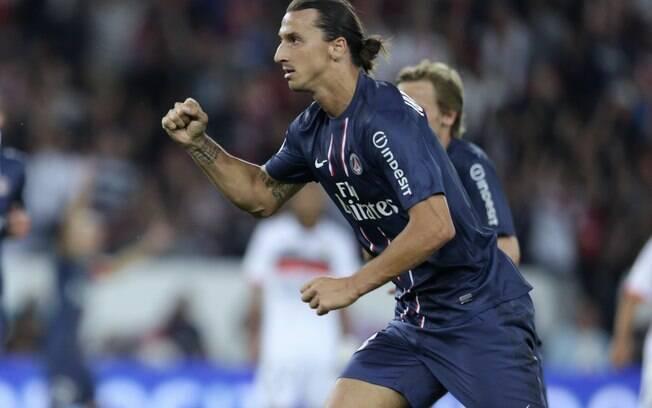 1ª rodada - PSG 2 x 2 Lorient - Ibrahimovic  marcou duas vezes, mas não evitou o tropeço do  time de Paris