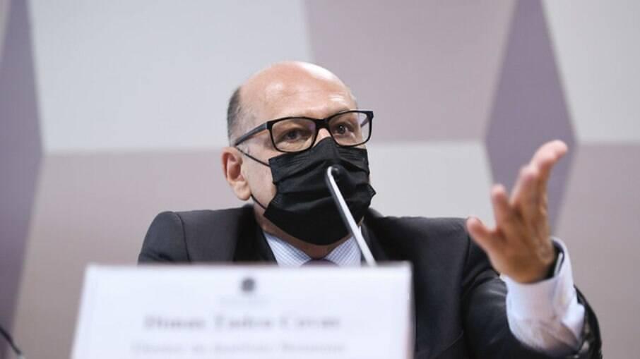 Dimas Covas, diretor do Instituto Butantan, em depoimento na CPI da Covid