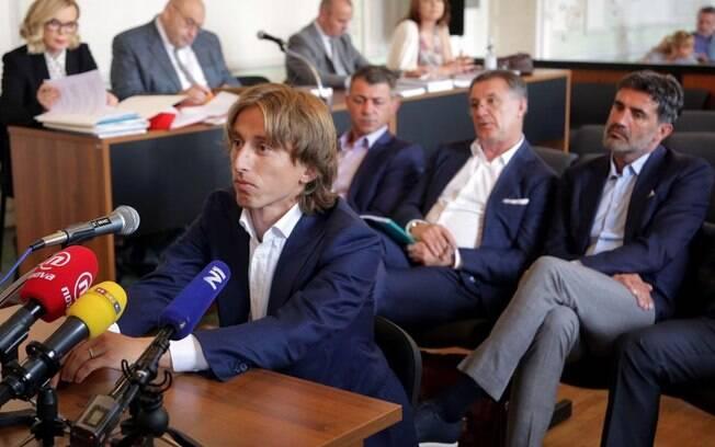 Luka Modric durante julgamento em junho de 2017, em tribunal da Croácia