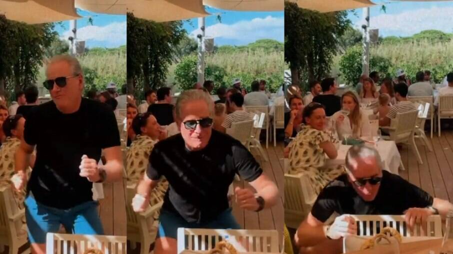 Roberto Justus dançando ao lado de Ana Paula Siebert
