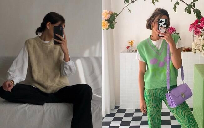 Colete de tricot é a peça ideal para você fugir da mesmice