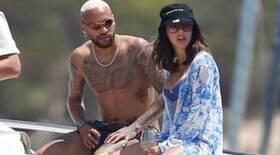 Neymar aparece com Bruna após carinhos em Ibiza