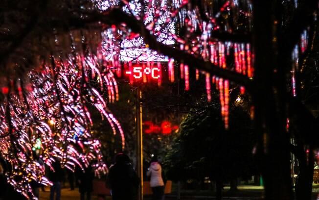 Cidades da região Sul tiveram termômetros marcando valores abaixo de zero