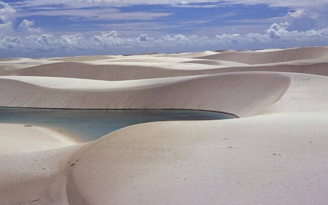 A Lagoa Azul permanece cheia o ano inteiro