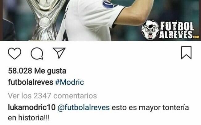 Modric negou os rumores sobre sua negociação com a Inter de Milão em comentário no Instagram