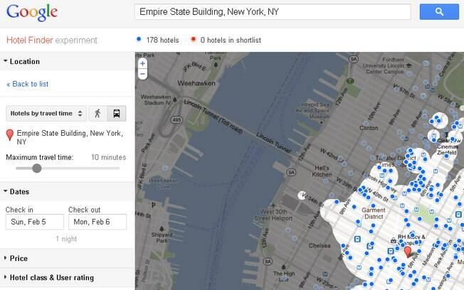 Ferramenta Hotel Finder agora filtra hotéis por proximidade aos pontos turísticos da cidade