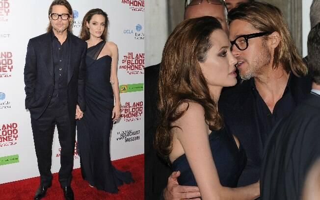 Angelina Jolie e Brad Pitt na pré-estreia em Hollywood